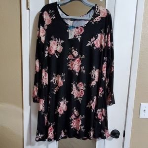 Rue+ floral long sleeved dress